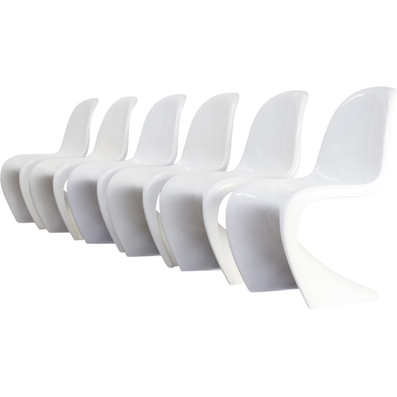 White Chairs by Verner Panton for Fehlbaum Herman Miller - 1970s
