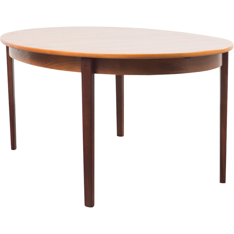Vintage Large oval dining table - 1970s
