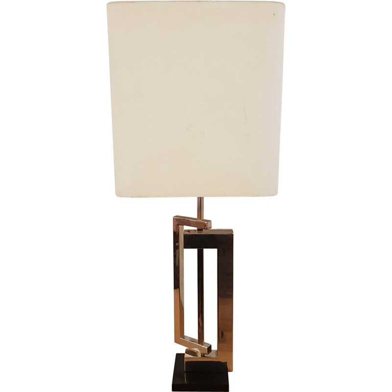Vintage sculptural lamp made of brass - 1970s