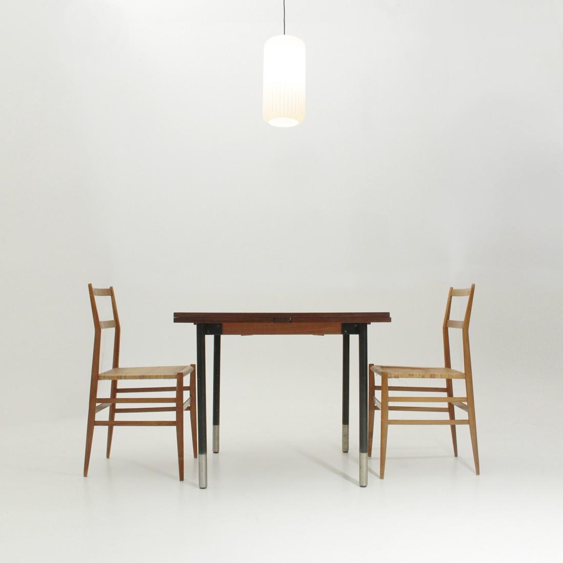Vintage extendable teak table by Giampiero Vitelli for Rossi di ...