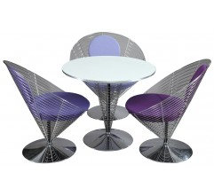 Set of Wire Cone chairs and  table, Verner PANTON - 1980s