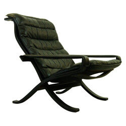 Flex lounge chair in plywood and leather, Ingmar RELLING - 1960s