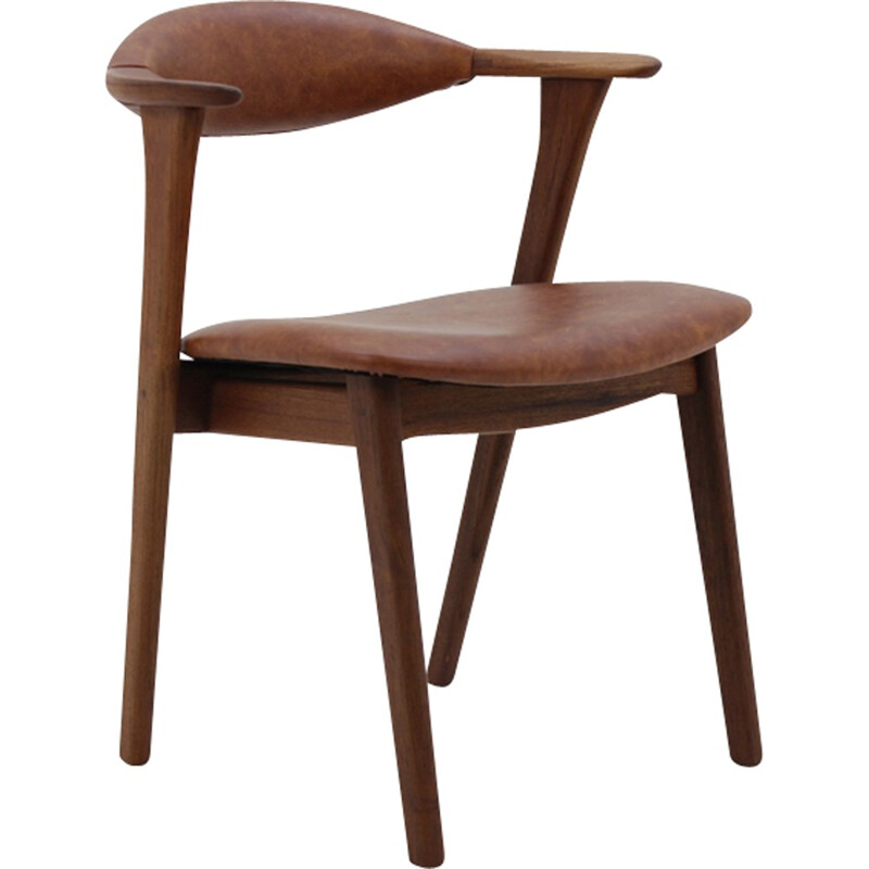 Vintage Teak Chair by Erik Kirkegaard for Høng Stolefabrik - 1960s