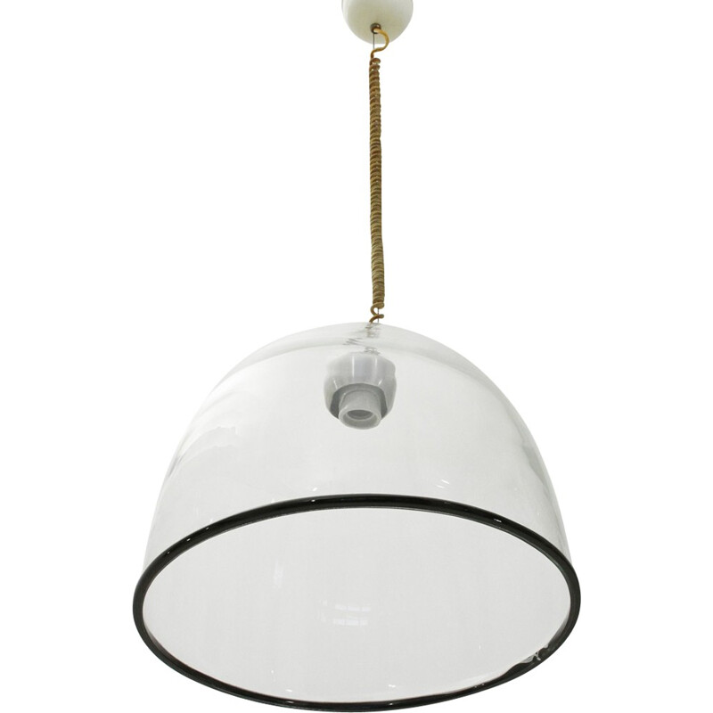 Vintage Murano glass pendant lamp by Renato Toso for Leucos - 1960s