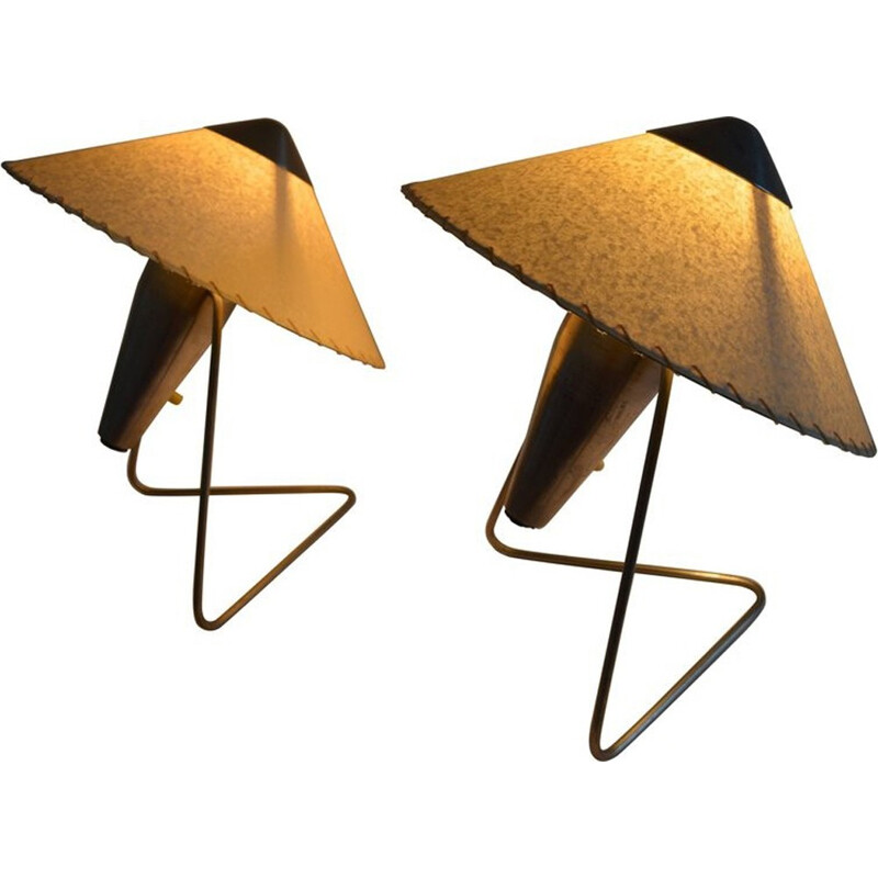 Pair of Vintage Lamps Designed by Helena Frantová - 1950s