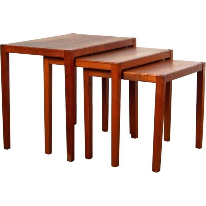 Vintage Nesting Tables by Sika Mobler, Denmark - 1960s