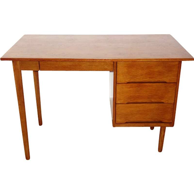Vintage scandinavian oak desk - 1960s