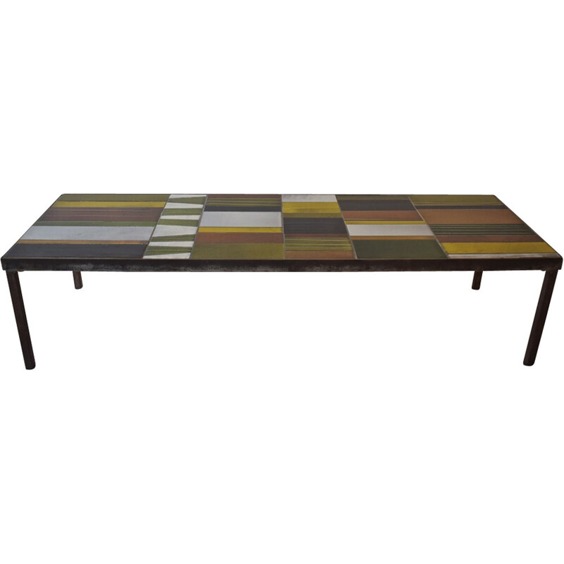 """Vintage """"Geometrical"""" coffee table by Roger Capron - 1960s"""
