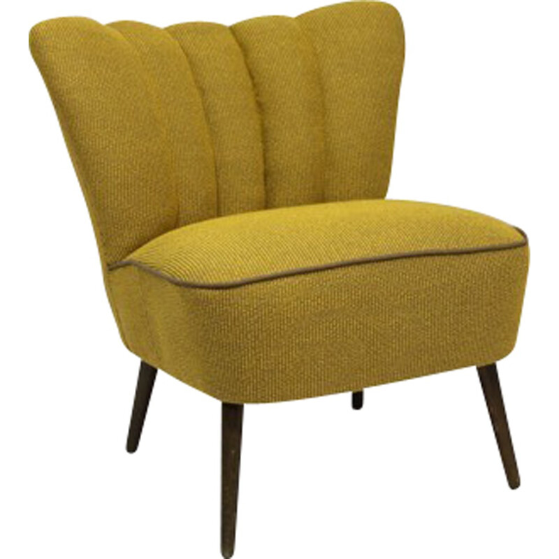 Vintage Yellow cocktail armchair - 1950s