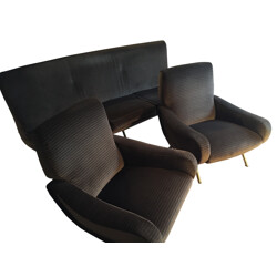 Set of Triennale sofa and pair of Lady armchairs, Marco ZANUSO - 1950s