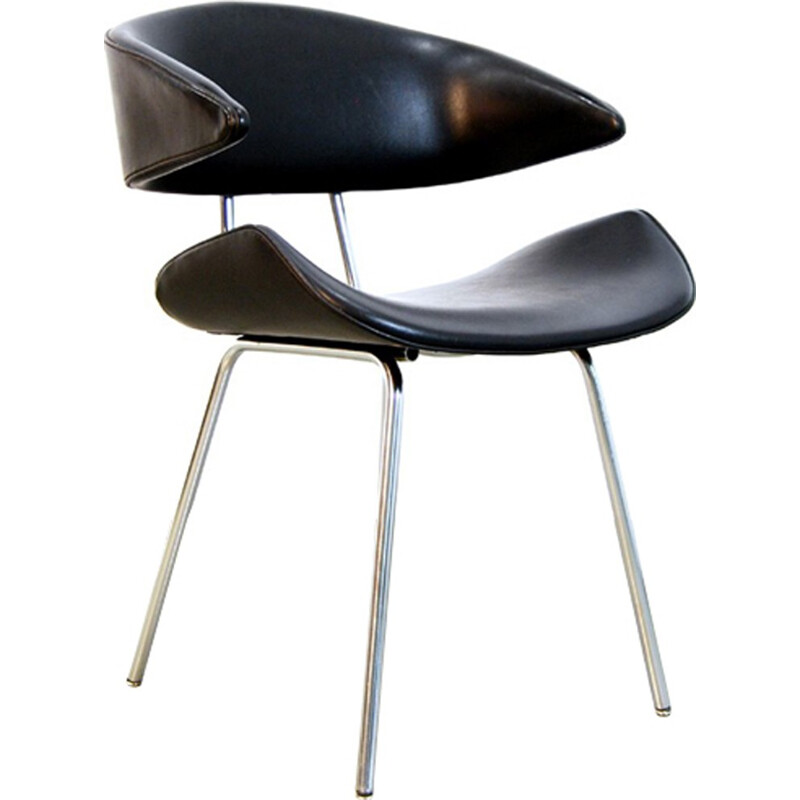 Dutch Industrial Tubular Metal Chair by Rob Parry - 1960s