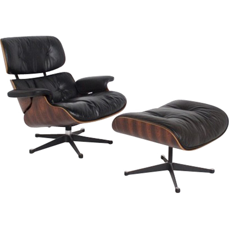 Lounge chair and footrest by Charles & Ray Eames - 1960s