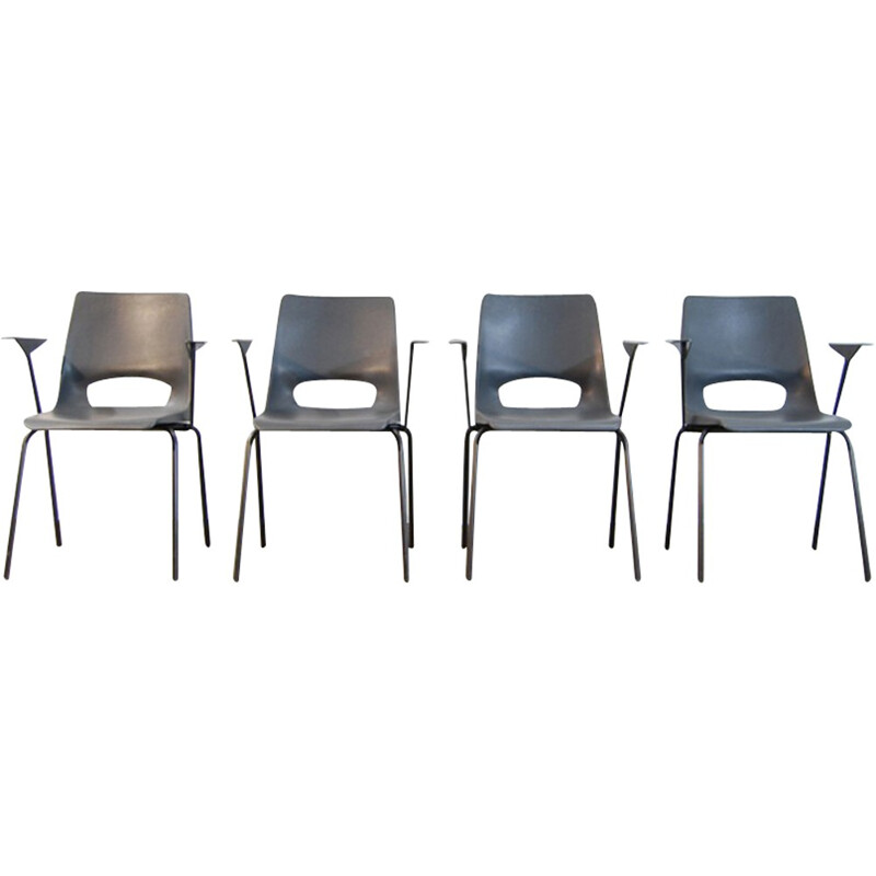 Set of 4 Industrial armchairs by Philippus Potter for Ahrend de Cirkel - 1970s