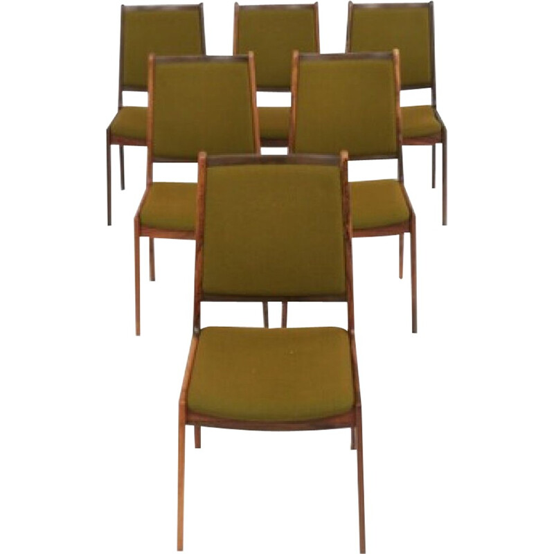Set of 6 dining chairs by Johannes Andersen - 1960s
