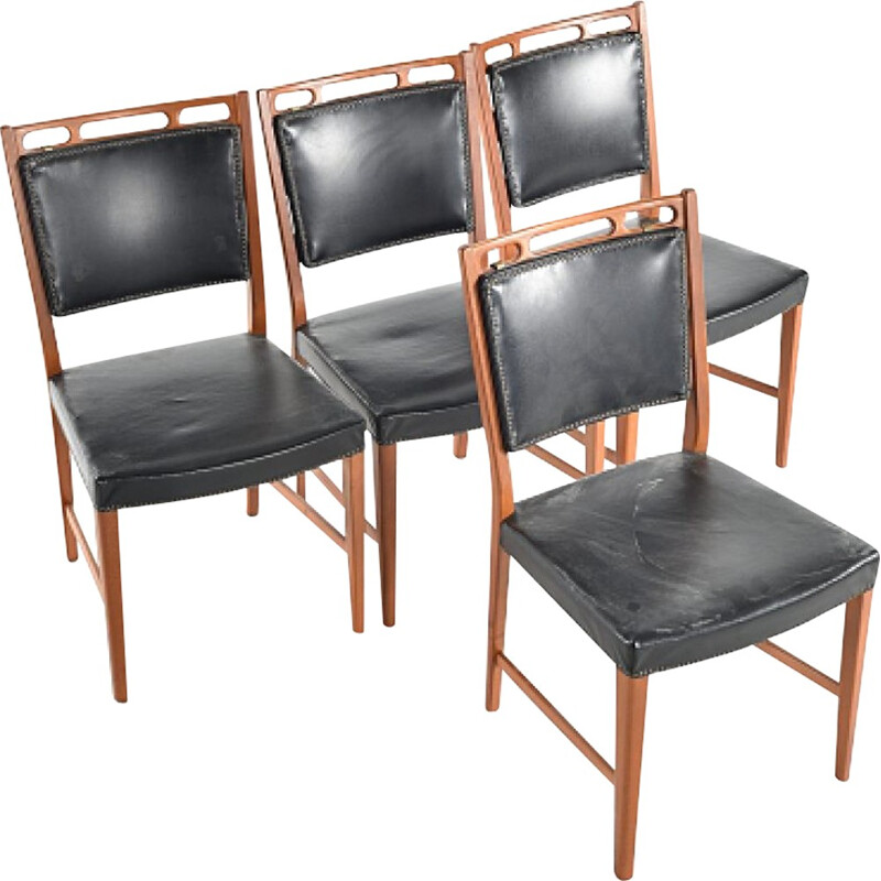 "Set of 6 vintage ""Futura"" Chairs by David Rosén-1960s"