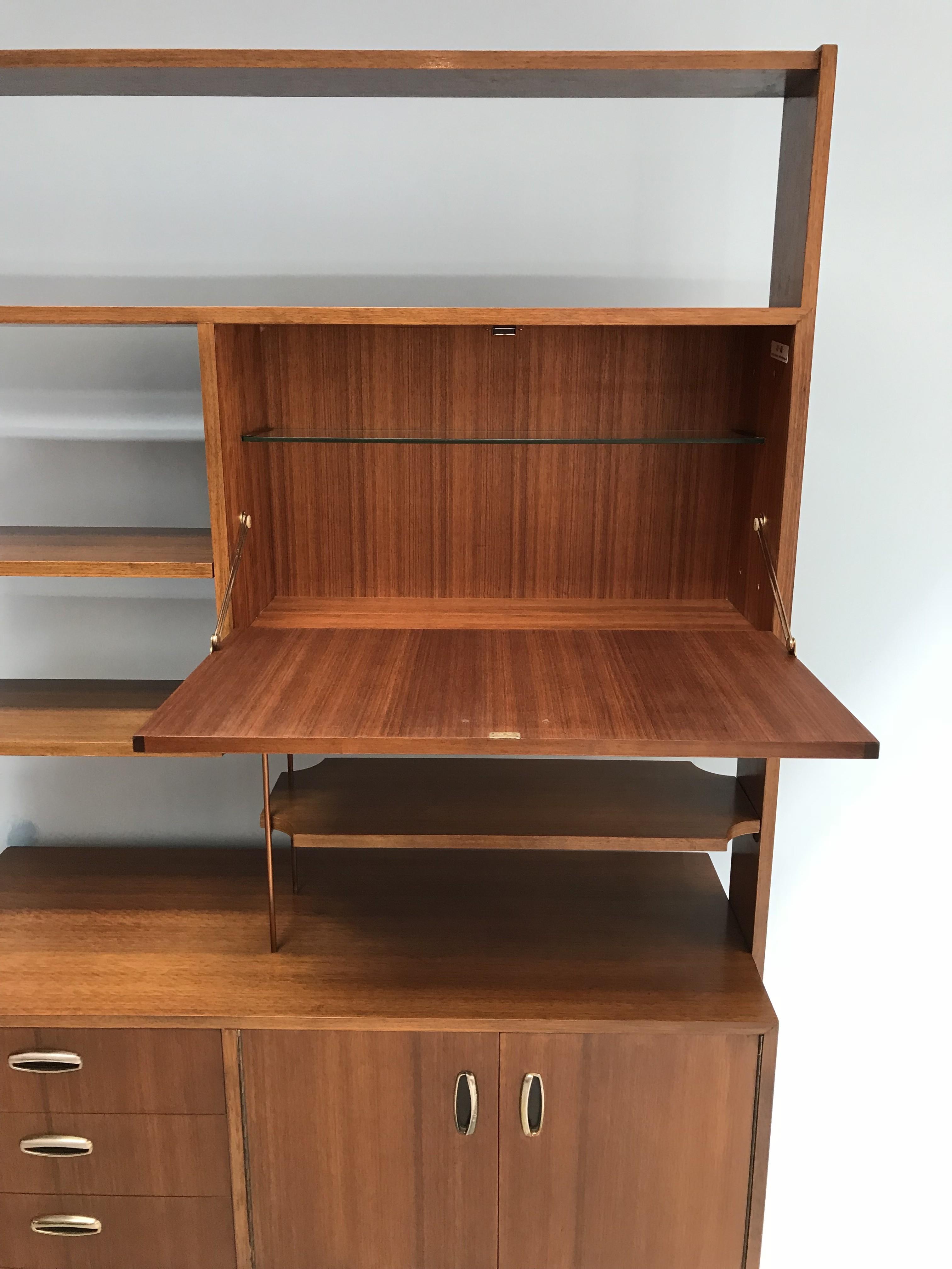 Vintage room divider wallunit in teak for G plan 1960s Design Market