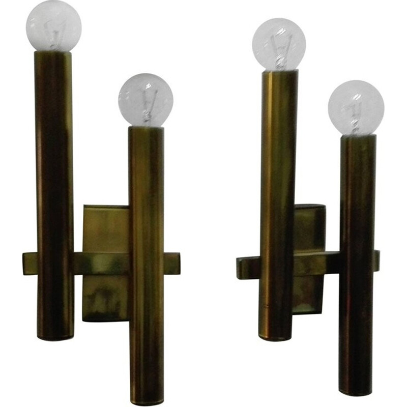 Set of 2 wall lamp by Gaetano Sciolari - 1960s