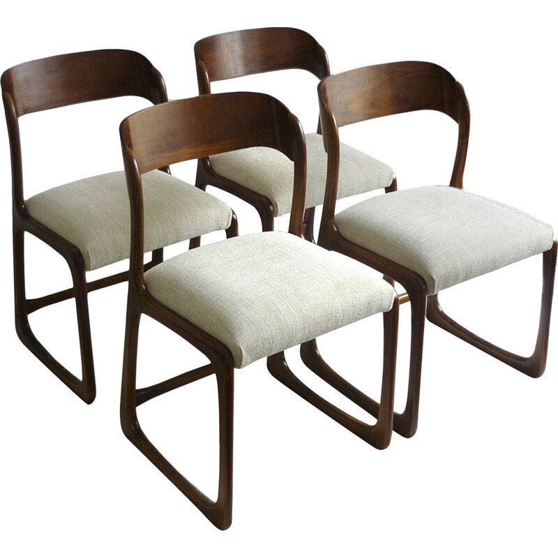 Set of 4 vintage Baumann chairs - 1960s
