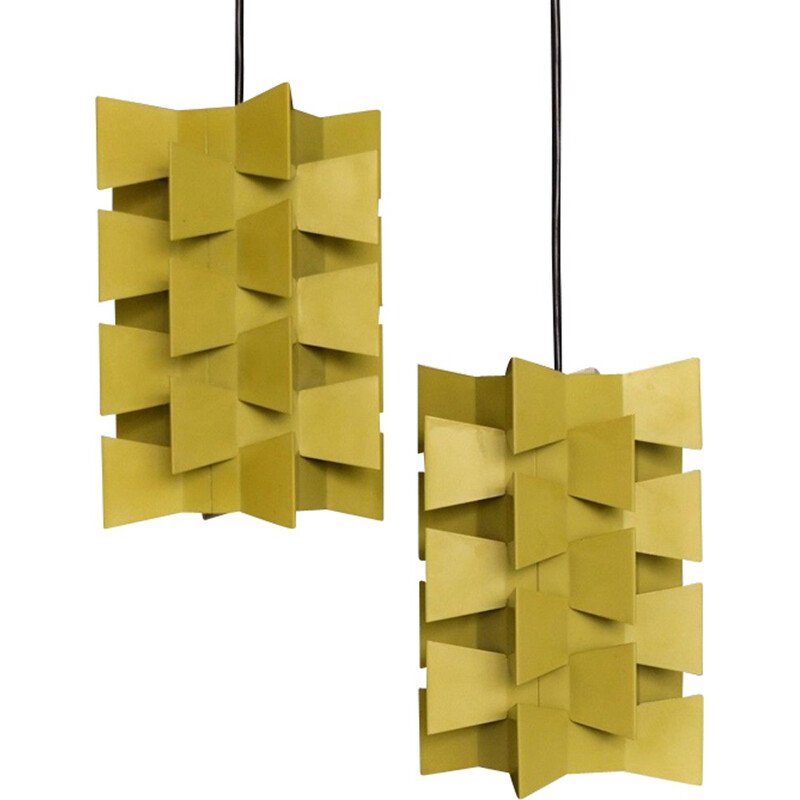 Pair of vintage pendant lamps for Nordisk Solar - 1960s
