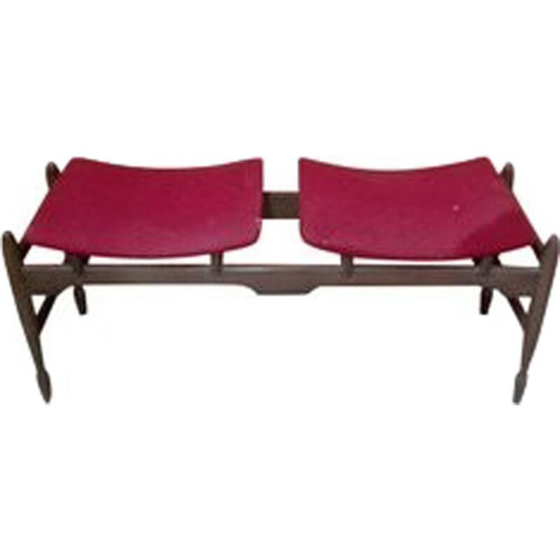 Vintage Danish Bench with Two Seats - 1970s