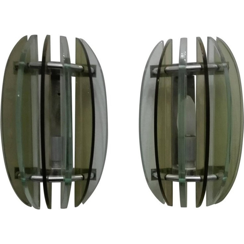 Pair of vintage Wall Lamps by Veca - 1960s
