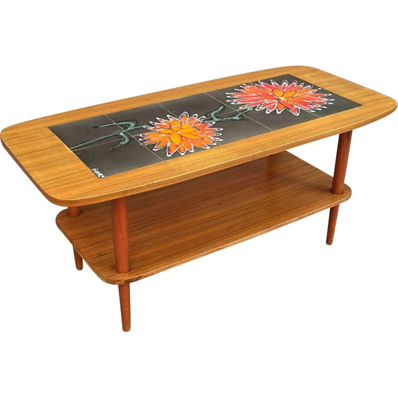 Coffee table in teak by Vallauris - 1970s
