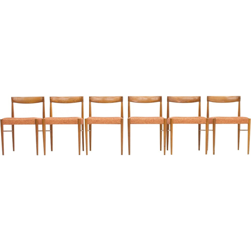 Set of 6 Danish Dining Chairs in teak by H. W. Klein for Bramin - 1960s