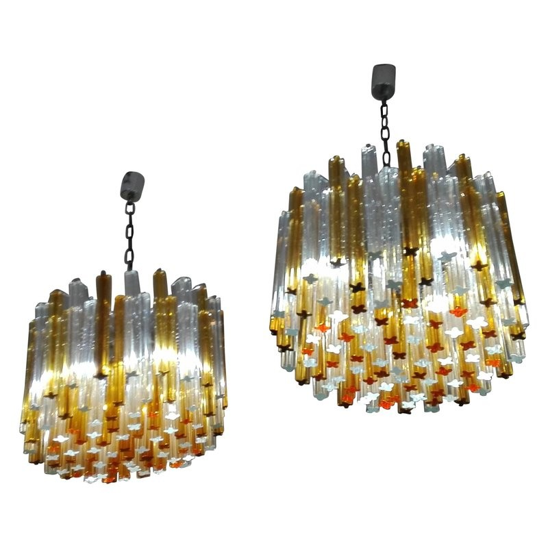 Pair of vintage italian chandeliers by venini 1960s design market previous aloadofball Gallery