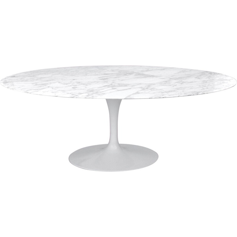 Vintage 198cm Arabescato Tulip table by Eero Saarinen for Knoll - 1960s