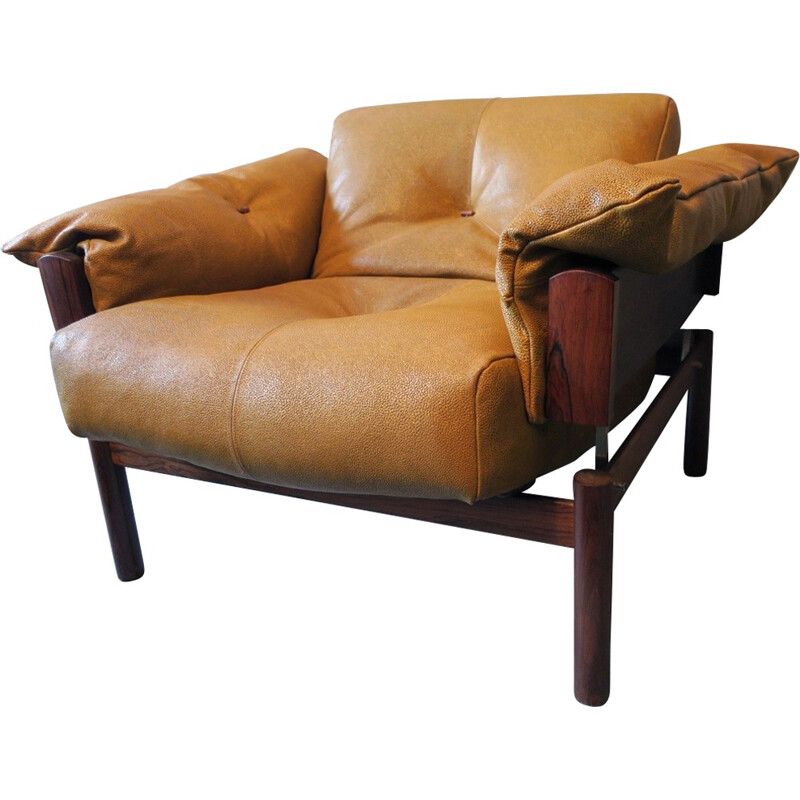 Vintage Rosewood Lounge Chair by Percival Lafer - 1970s