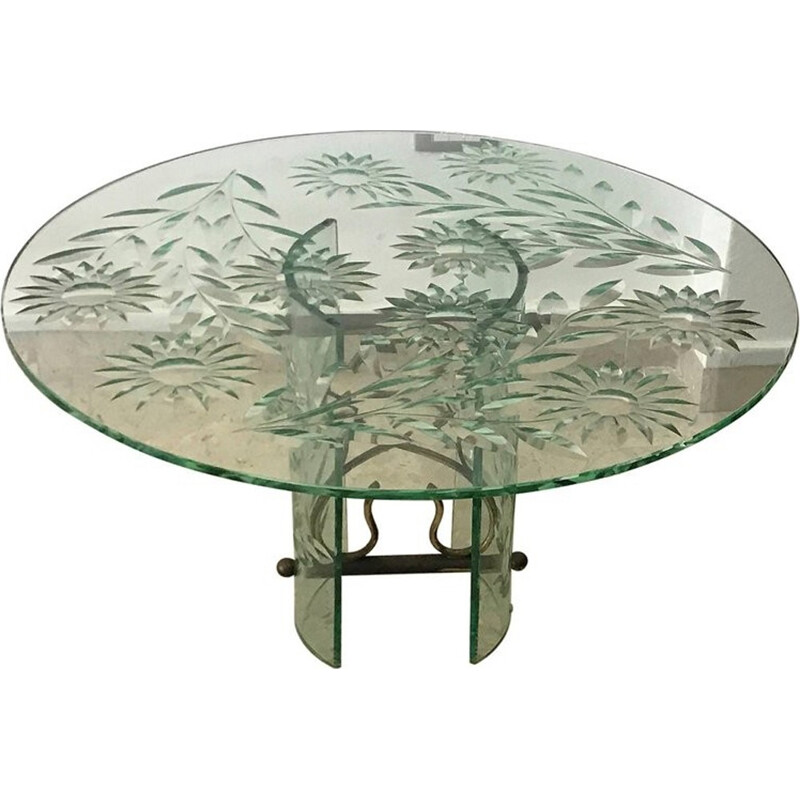 Vintage Coffee Table by Pietro Chiesa for Fontana Arte - 1940s