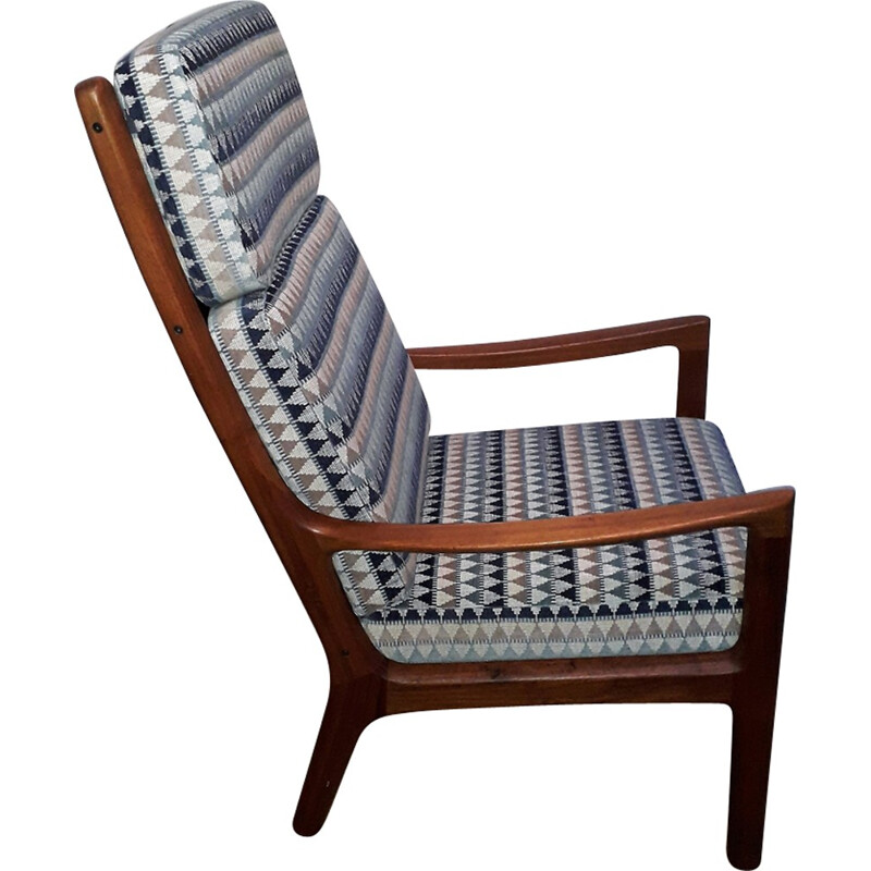 Vintage solid teak lounge chair by Ole Wanscher for Cado - 1960s