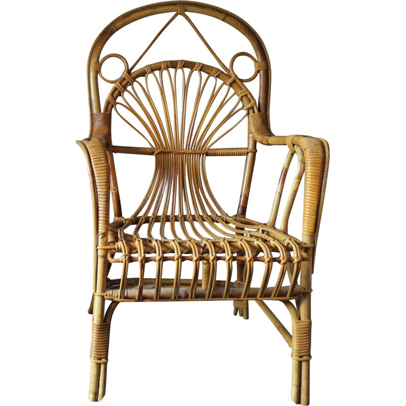 Vintage Bamboo Patio Armchairs - 1960s