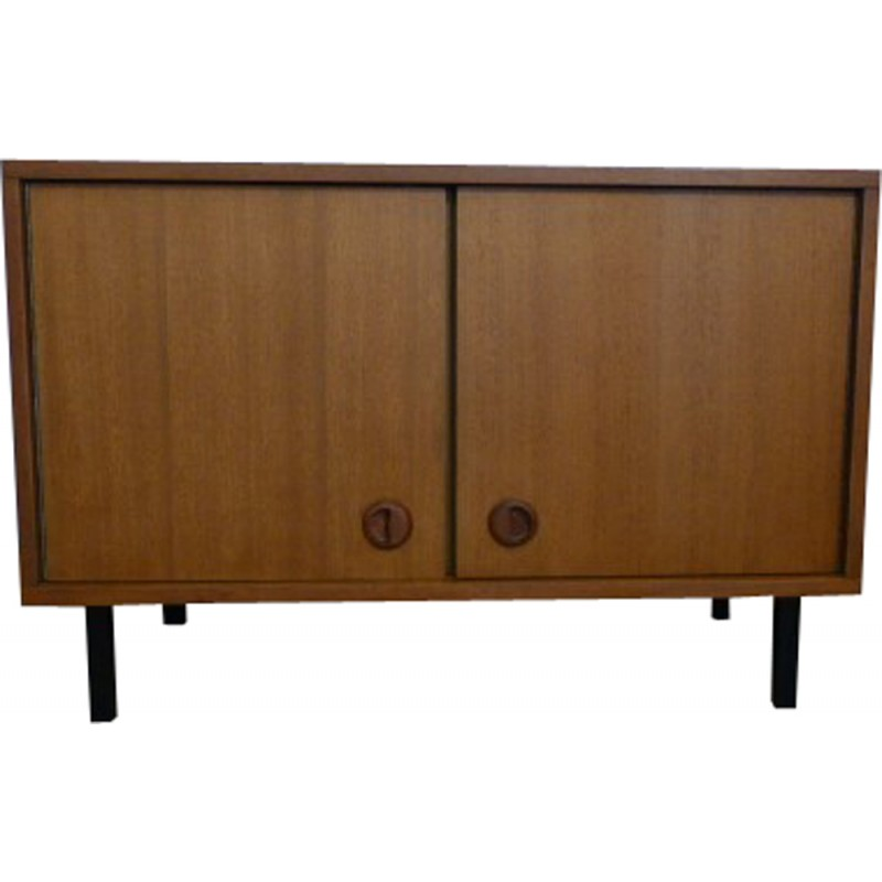 French Wood Vintage Tv Furniture 1960s