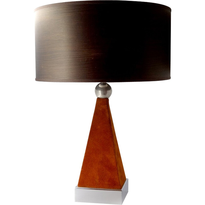 Vintage Geometric Table Lamp - 1970s