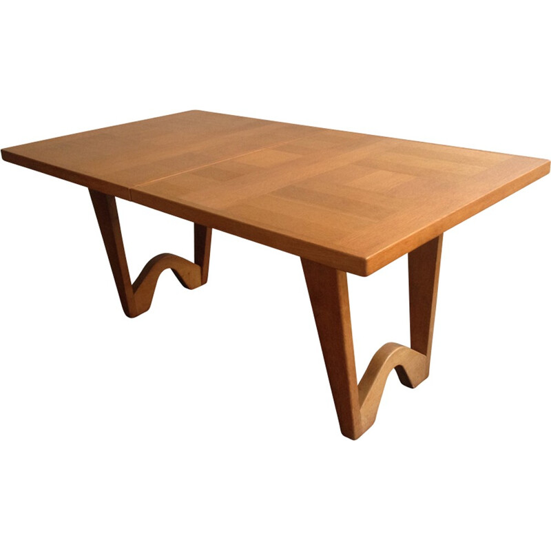 Vintage dining table by Guillerme and Chambron - 1960s
