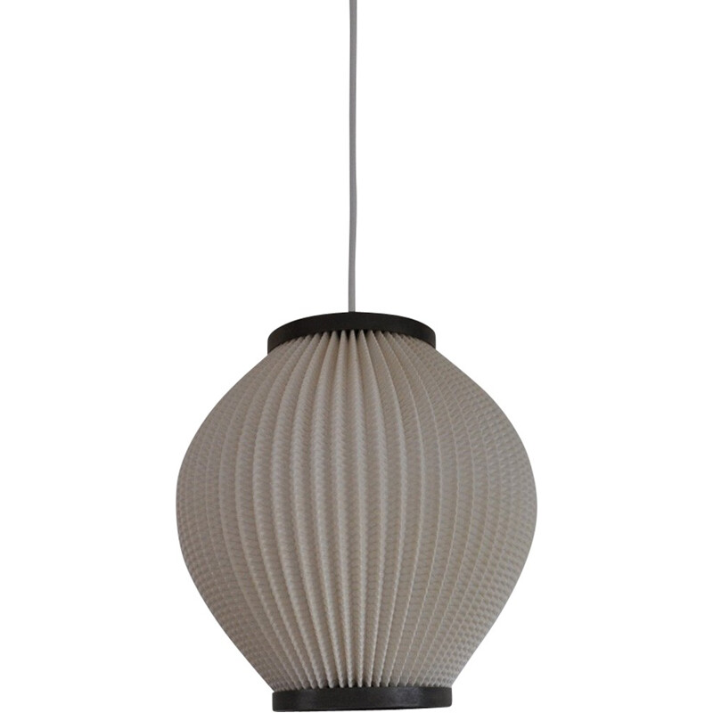 Vintage Acrylic pleated pendant lamp manufactured by Holm Sørensen & Co - 1960s