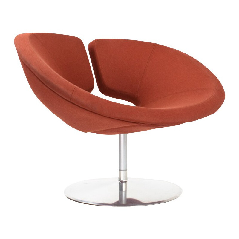 "Brown red ""Apollo"" armchair, Patrick NORGUET - 2000s"