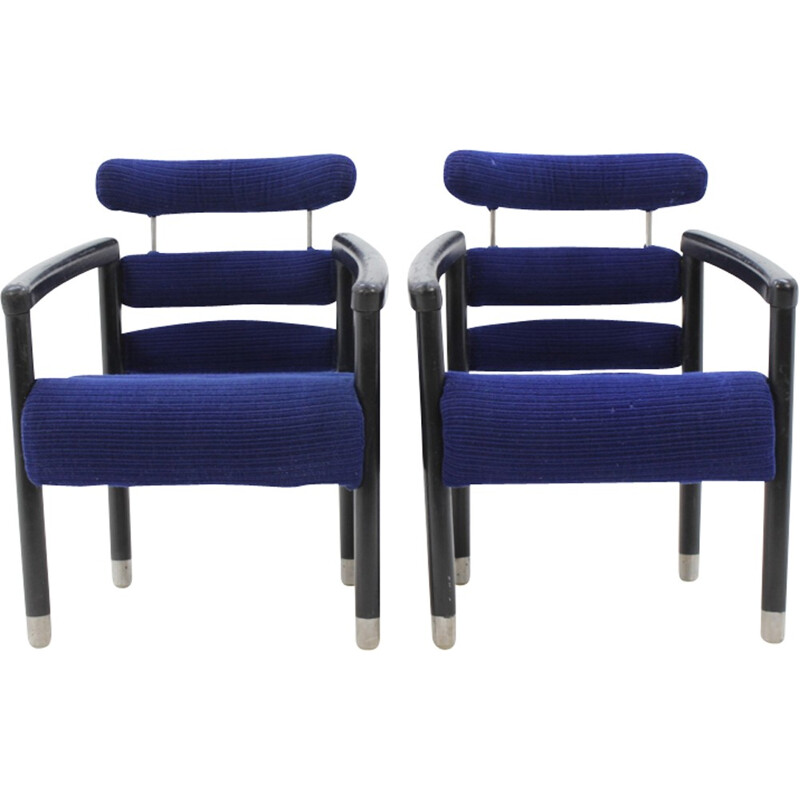 Pair of vintage Armchairs from International hotel Brno - 1970s