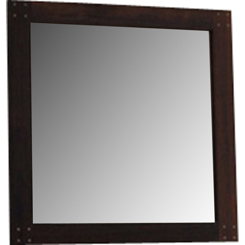 Swedish rosewood mirror with silver detail by Uno & Östen Kristiansson - 1960s