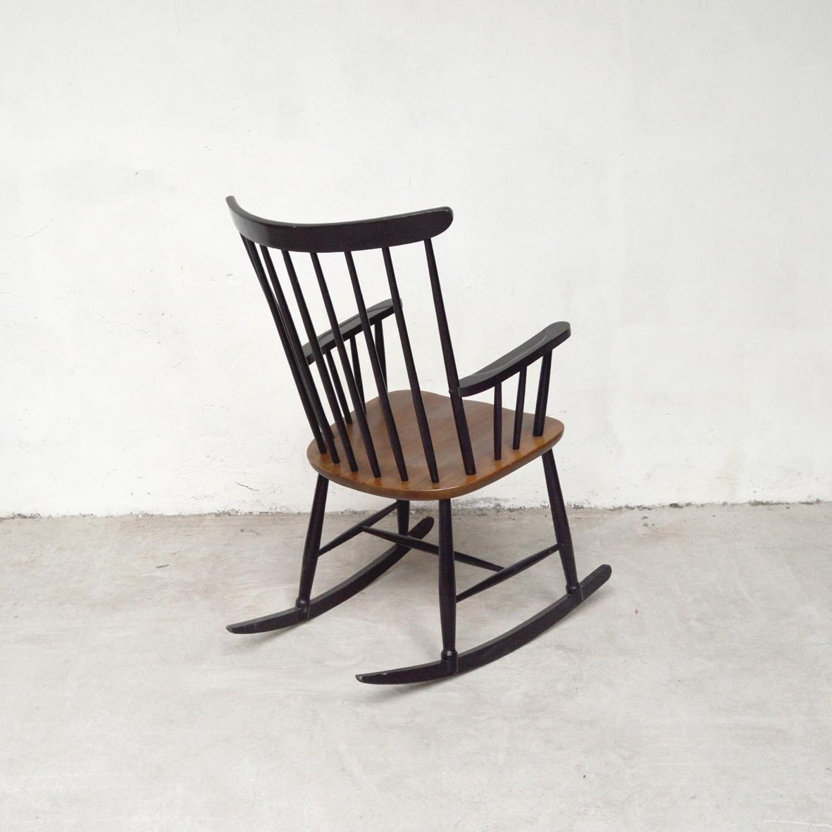 rocking chair design scandinave cheap scandinave vintage j de fredericia chne savonn raphia. Black Bedroom Furniture Sets. Home Design Ideas