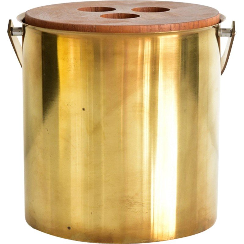 Vintage ice bucket made of brass by Arne Jacobsen - 1960s