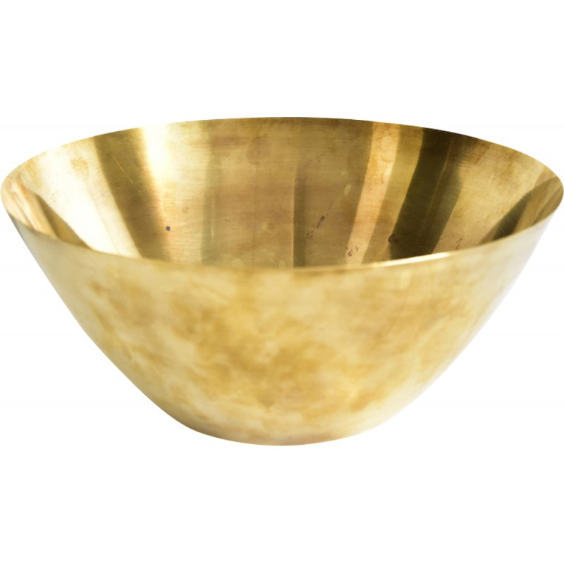Vintage bowl in brass by Arne Jacobsen for Stelton - 1960s
