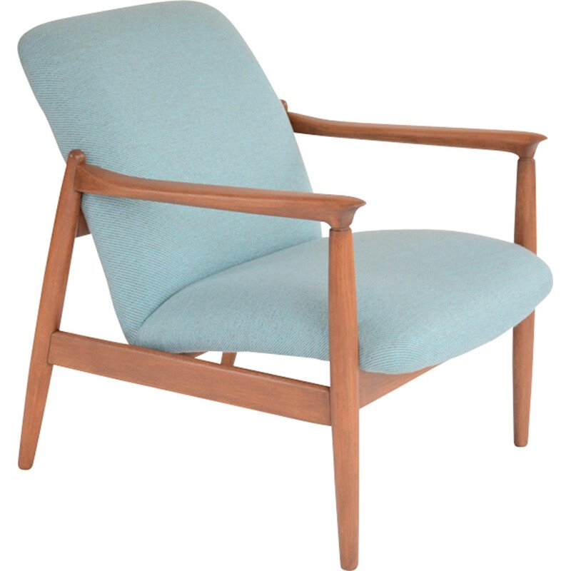 "Blue ""GMF-64"" armchairs by Edmund Homa - 1960s"