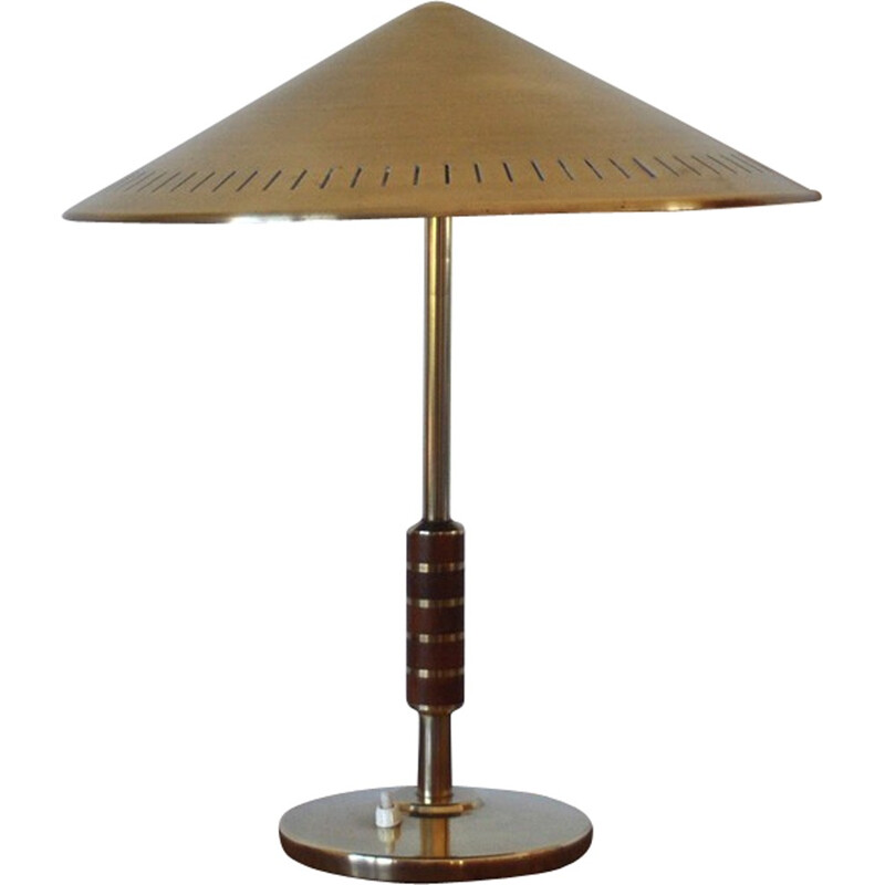 Danish Vintage brass table lamp by Bent Karlby - 1950s