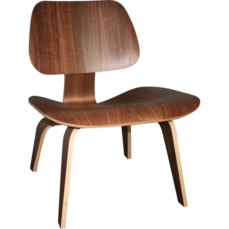 Vintage walnut LCW Chair by Charles & Ray Eam for Herman Miller - 2000