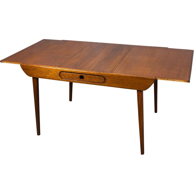 Vintage Extendable Dining Table by Louis van Teeffelen for Wébé - 1960s