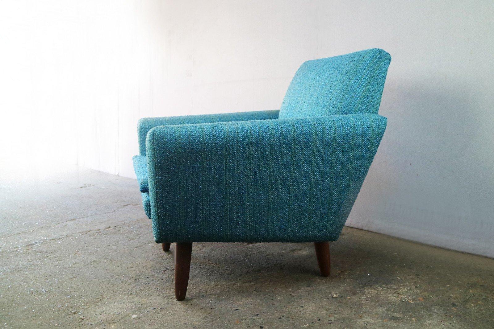 Vintage Scandinavian Turquoise Armchair   1970s. 500,00 U20ac