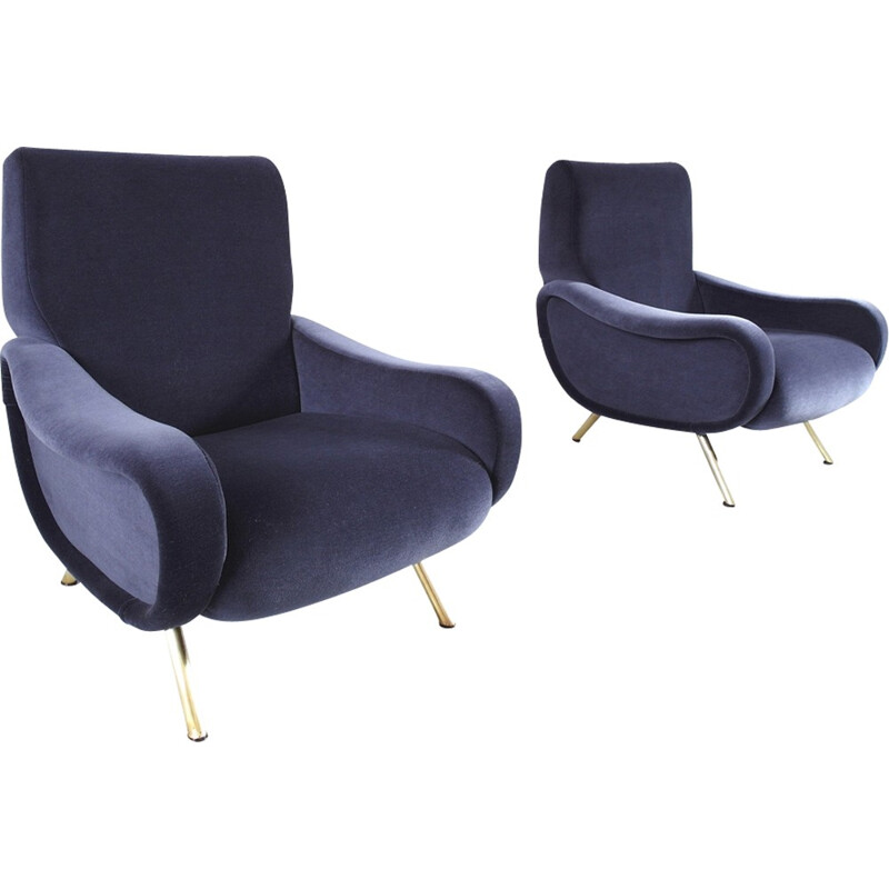 Pair of Lady Chairs by Marco Zanuso for Arflex - 1951