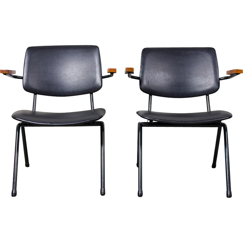 office chair vintage. set of two vintage office chairs by rudolf wolf - 1950s chair a